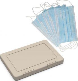 Maskenbox Hygiene Einweg, inkl. 5 Einwegmasken