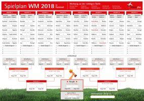 WM-Planer Spielplan Fußballweltmeisterschaft 2018