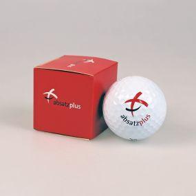1er Golfball Verpackung, außen individuell gestaltet
