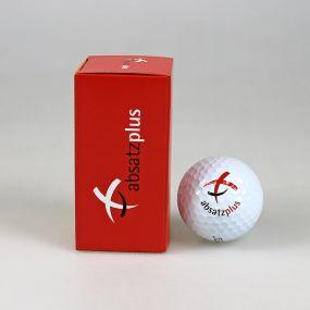2er Golfball Verpackung, außen individuell gestaltet