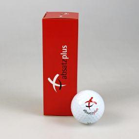 3er Golfball Verpackung, außen individuell gestaltet
