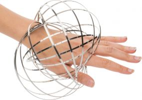 Kinetic Spring Toy Reflects Flowring als Werbeartikel