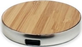Wireless Charger EasyCharge wood als Werbeartikel