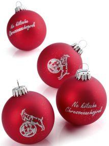 Glas-Weihnachtskugeln inkl. einfarbigem Logodruck