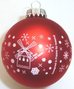 Glas-Weihnachtskugeln inkl. einfarbigem Werbedruck