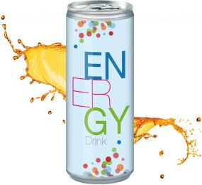 Energy Drink in der Dose, Body Label (pfandfrei, Export)