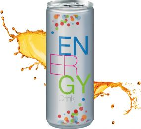 Energy Drink in der Dose, No Label Look (Alu Look) (pfandfrei, Export)