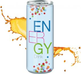 Energy Drink in der Dose, Fullbody (pfandfrei, Export)