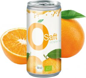 Bio Orangensaft, 200 ml, Body Label (pfandfrei)