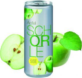 Apfelschorle still in der Dose, No Label Look (Alu Look) (pfandfrei)