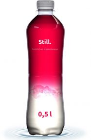 Mineralwasser Flasche Slimline, 500 ml, still, Fullbody (Export)