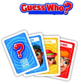 Hasbro - Guess Who mit Werbedruck