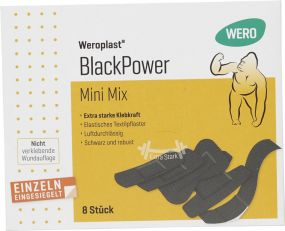 Pflasterset BlackPower Mini Mix 8-teilig