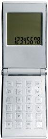 Taschenrechner mit Weltzeituhr als Werbeartikel