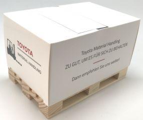 Kartoncover-Box mit Z-type inkl. Werbedruck