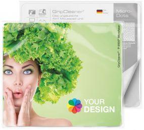 GripCleaner® 4in1 Mousepad 23x20cm im Polybeutel mit Standardkarte