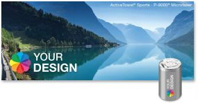 ActiveTowel® Sports Microfaser-Sporthandtuch 100 x 40 cm in der Dose individuell