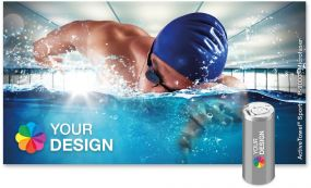 ActiveTowel® Sports Microfaser-Sporthandtuch 130 x 70 cm in der Dose individuell