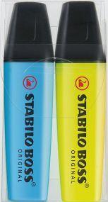 Stabilo BOSS ORIGINAL 2er-Set Leuchtmarkierer