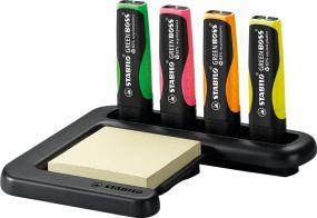 Stabilo GREEN BOSS 4er Tisch-Set Leuchtmarkierer