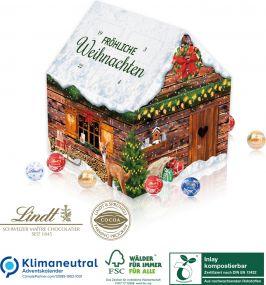 Adventskalender Lindt Weihnachtshaus als Werbeartikel