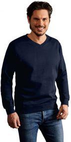 Promodoro Herren Sweatshirt mit V-Ausschnitt als Werbeartikel