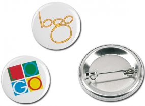 BUTTON I Metallbutton Ø 5,6 cm