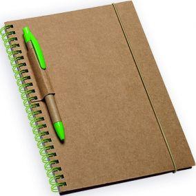 GARDEN Notizbuch mit Schlaufe für Kugelschreiber, 120 verlinkte Seiten als Werbeartikel