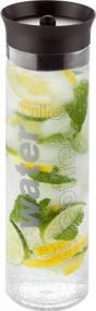 Wasserkaraffe Pure Aqua mit Silikondeckel Metmaxx® als Werbeartikel