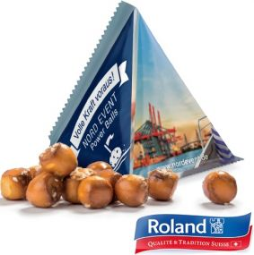Snack-Tetraeder Pretzel-Balls als Werbeartikel
