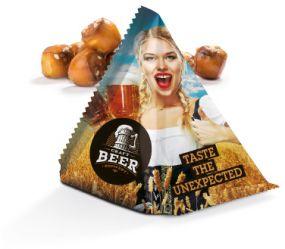 Snack Tetraeder Roland Pretzel Balls als Werbeartikel