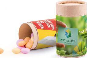 Papierdose Eco Midi, M&M´s Peanut als Werbeartikel