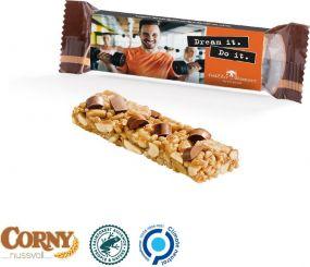 Corny Nussriegel in verschiedenen Sorten als Werbeartikel