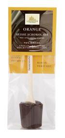 Heiße Schokolade - Orange, 75% Cacao als Werbeartikel