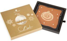 Schokoladentafel LArt Weihnachtskugel als Werbeartikel