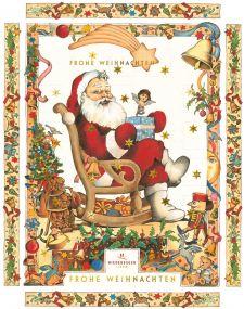 Adventskalender Weihnachtsmann  als Werbeartikel