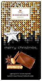 Marzipan Weihnachtsschokolade als Werbeartikel
