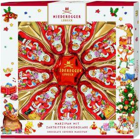 Marzipan Weihnachtssterne und Weihnachtsmann