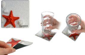 Soft-Untersetzer Mini-Pad Quadra als Werbeartikel als Werbeartikel