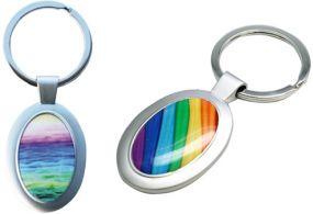 Schlüsselanhänger Oval als Werbeartikel