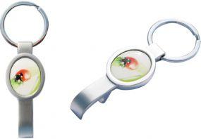 Schlüsselanhänger Ovalbottle als Werbeartikel