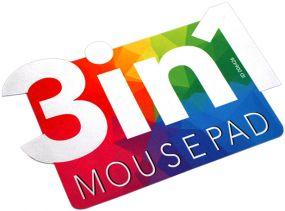 3in1 Mikrofaser Mousepad in Sonderform