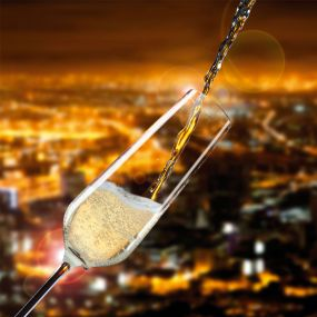 Champagner-Gläser Wangi Vanilla Season® als Werbeartikel