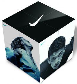 Magnetischer Tischkalender Faltwerk Magic Cube 7 als Werbeartikel