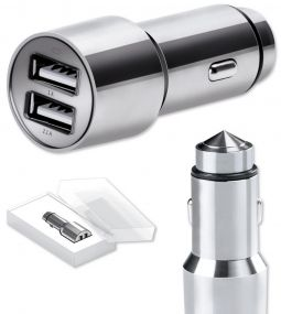 Car Charger Stainless Steel als Werbeartikel