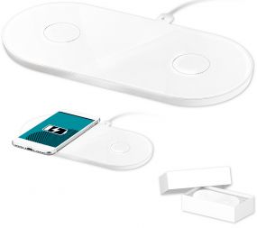 Twin wireless charger als Werbeartikel