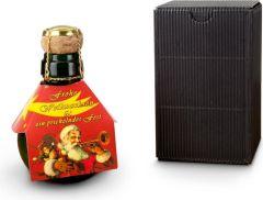 Kleinste Sektflasche Weihnachtsgruß als Werbeartikel