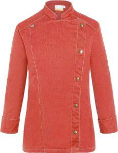 Damenkochjacke Jeans-Style als Werbeartikel