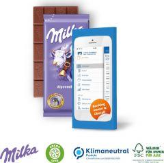 Schokoladentafel von Milka, 40 g als Werbeartikel