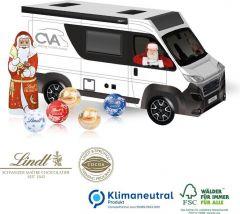 3D Präsent Camper mit Lindt Santa & Lindt Minis